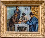 New York City getroffene Paul Cezanne, die Kartenspieler stockfoto