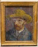 New York City getroffene Vincent Van Gogh Self Portrait Painting stockbilder