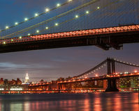 New York City getta un ponte sui dettagli Fotografia Stock