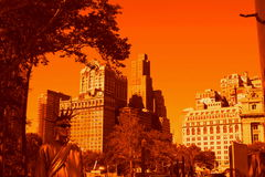 New York city in Gold Stock Photography