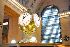 New York City Grand Central Clock. With ancient windows Stock Photos