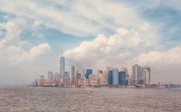 New York City. Great view of New York City with beautiful clouds NYC usa stock photography