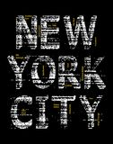 New York City Grunge t-shirt graphic vector image. Typography design New York City grunge t-shirt graphic background Black, vector image Royalty Free Stock Image