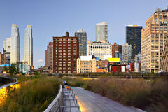 New York City hög linje Arkivfoto
