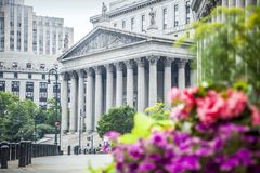 New York City högsta domstolen under dag arkivbild