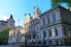 New York City Hall building in lower Manhattan stock image
