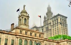 New York City Hall et bâtiment municipal de Manhattan Photo libre de droits