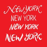 New York city hand drawn vector lettering. stock illustration