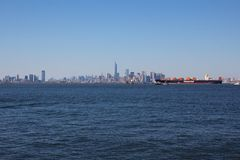 New York City with Hapag Lloyd Yantian Express Stock Photo