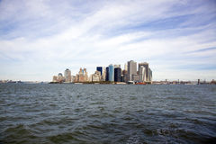 New York city harbor Stock Images