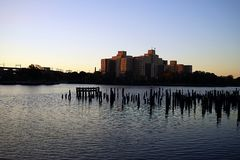 New York City Harlem River USA Royalty Free Stock Photography