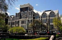New York City: Harris Hall på stadshögskolan Arkivfoto