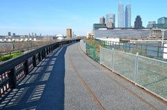 New York City Highline, New York City, USA. NEW YORK CITY - April 20, 2014: New York City Highline, New York City, USA Royalty Free Stock Images