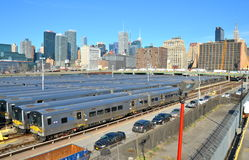 New York City from the Highline, NYC. The West Side Train Yard for Pennsylvania Station in New York City from the Highline, New York City, USA Stock Photography