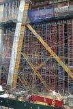 New York City: highrise building construction Stock Photos