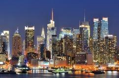 New York City horisont Arkivbild