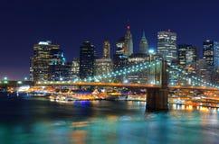 New York City horisont Fotografering för Bildbyråer
