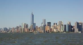 New York City horisont Arkivbilder