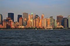 New York City horisont royaltyfria bilder