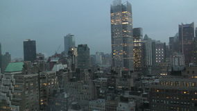 New York City horisont i morgonen arkivfilmer