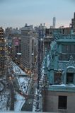 New York City horisont, NYC, USA fotografering för bildbyråer