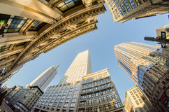 New York City horisontomgivning Arkivbild