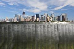 New York City horisontpanorama 9/11 Fotografering för Bildbyråer