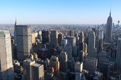 New York City Horizon as seen from the center of the city. Royalty Free Stock Photography