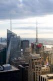 New York City Horizon du centre de Manhattan au coucher du soleil Images libres de droits