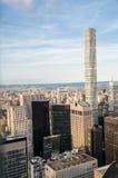 New York City Horizon du centre de Manhattan au coucher du soleil Photo libre de droits