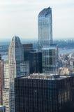 New York City Horizon du centre de Manhattan au coucher du soleil Photo stock