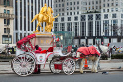 New York City Horse-Drawn Carriage Royalty Free Stock Photography