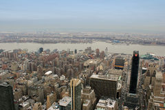 New york city and hudson river Stock Images