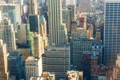 New York City i stadens centrum closeup Arkivfoton
