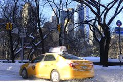 New York City i vinter Royaltyfri Foto
