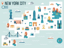 New York City. Illustration of New York City Map Infographic Elements Stock Photos