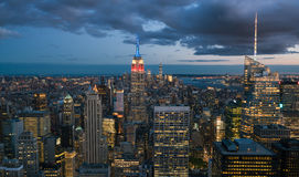 New York City im Stadtzentrum gelegen Stockbild