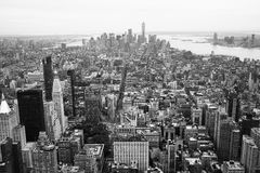 New York City im Stadtzentrum gelegen, Schwarzweiss stockbilder