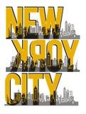 New York City, image de vecteur Images stock