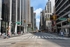 New York City Intersection with Cross Walk Royalty Free Stock Images