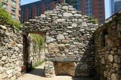 New York City Irish Hunger Memorial royalty free stock photo