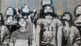 New York City in its essence: unrivaled street art stock images