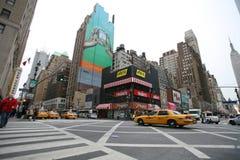 NEW YORK CITY - 2. JANUAR 2009: West-34 St., New- Yorkstraßenleben Ja Lizenzfreies Stockbild