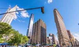 NEW YORK CITY - JUIN 2013 : Façade de bâtiment de fer à repasser à Manhattan Image stock