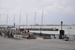 New York City, am 2. Juli: Brookfield-Platz-Ufergegend in Manhattan von New York City in Vereinigten Staaten stockfotos