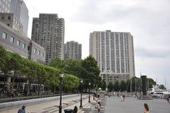 New York City, am 2. Juli: Brookfield-Platz-Ufergegend von Manhattan von New York City in Vereinigten Staaten Lizenzfreie Stockbilder