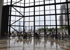 New York City, am 2. Juli: Brookfield-Platzinnenraum in Manhattan von New York City in Vereinigten Staaten lizenzfreies stockfoto