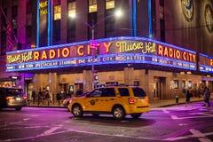NEW YORK CITY - JULI 1: Radiostadsmusik Hall July 1, 2016 i New York, NY Avslutat i 1932, förklarades den berömda musikkorridoren royaltyfri bild