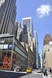 New York City, am 2. Juli: Straßenansicht in Manhattan von New York City in Vereinigten Staaten stockbild