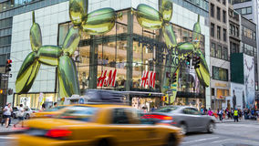 NEW YORK CITY - JULY 29, 2014: H&M shop in New York Royalty Free Stock Photo